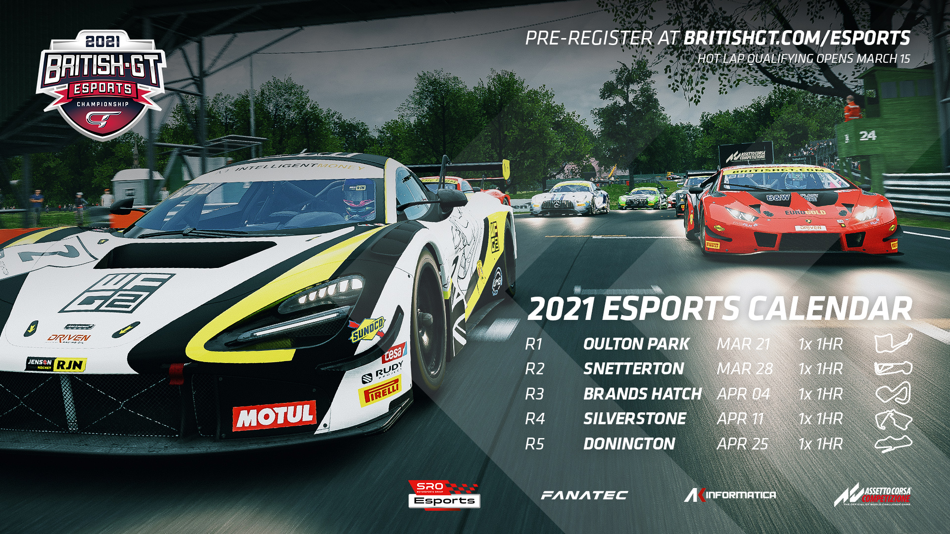 Revamped British GT Esports Championship joins SRO's global sim racing roster