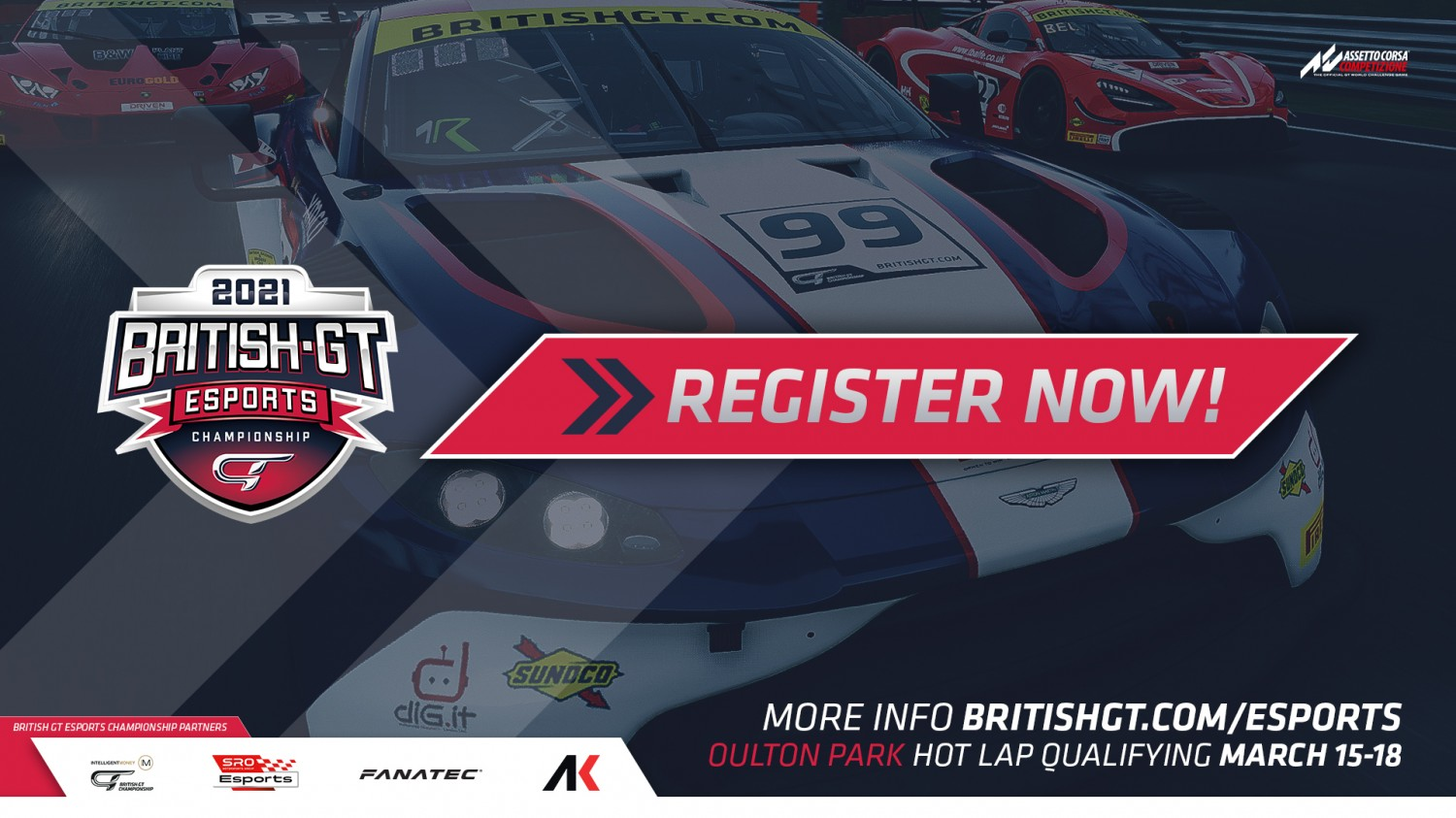 British GT Esports Championship registration is now OPEN!
